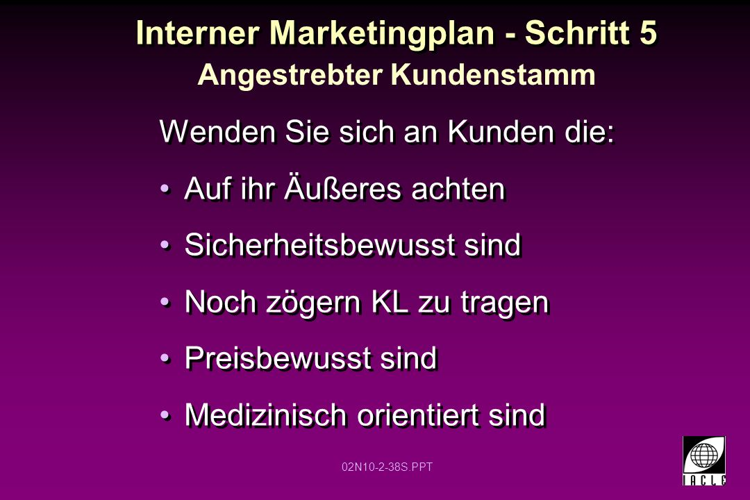 Interner Marketingplan - Schritt 5