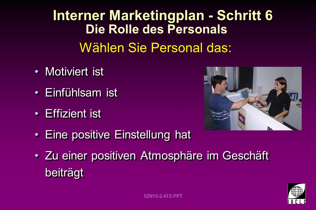 Interner Marketingplan - Schritt 6