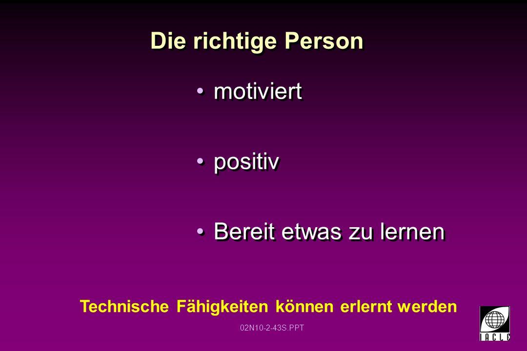 Die richtige Person motiviert positiv Bereit etwas zu lernen