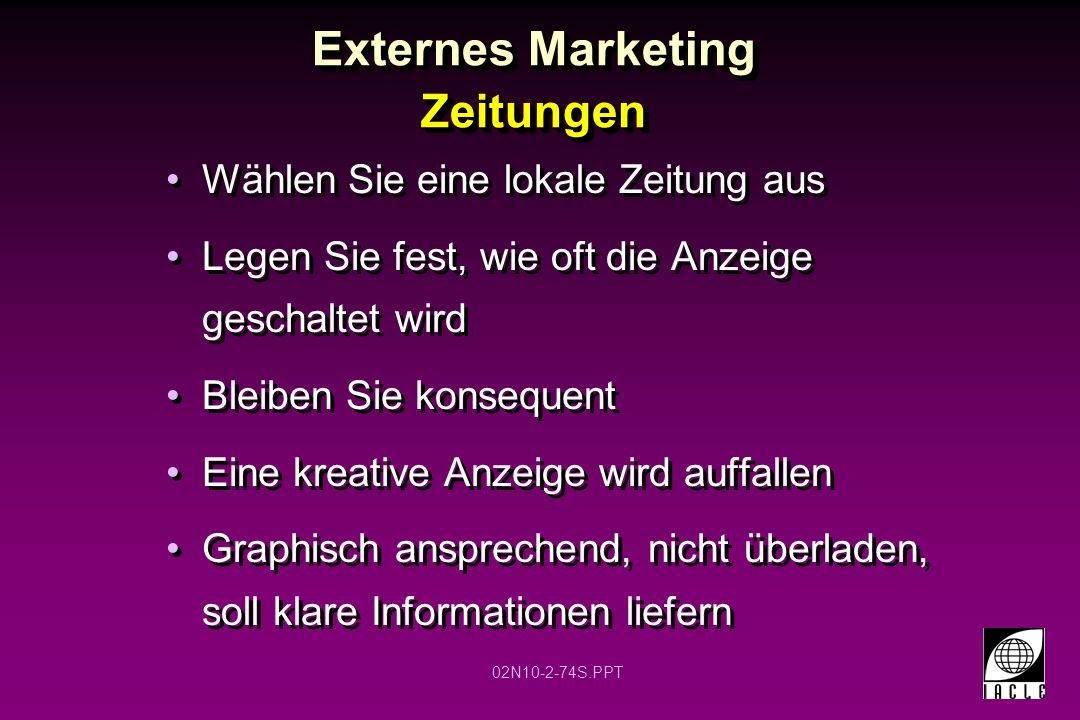 Externes Marketing Zeitungen