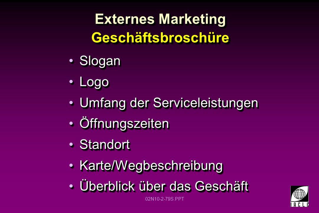 Externes Marketing Geschäftsbroschüre