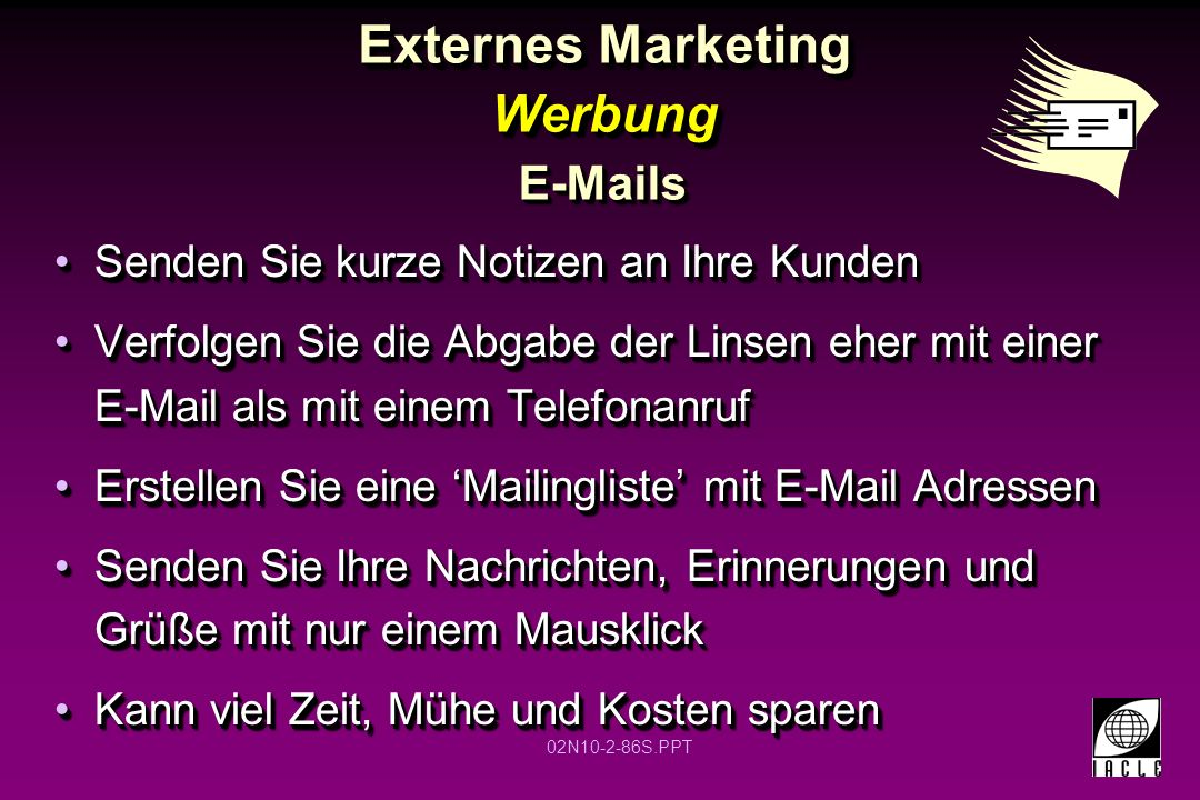 Externes Marketing Werbung