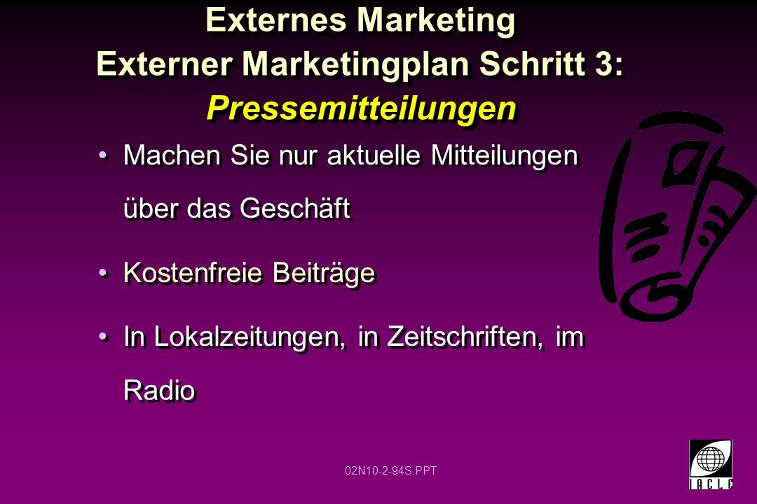 Externes Marketing Externer Marketingplan Schritt 3: Pressemitteilungen