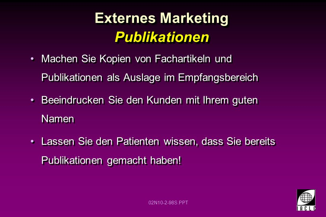 Externes Marketing Publikationen