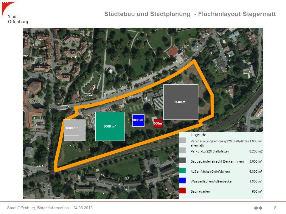 Städtebau und Stadtplanung - Flächenlayout Stegermatt