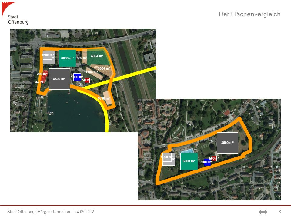 Der Flächenvergleich 1600 m² 3200 m² 6000 m² 4954 m² 1520 m² 3054 m²