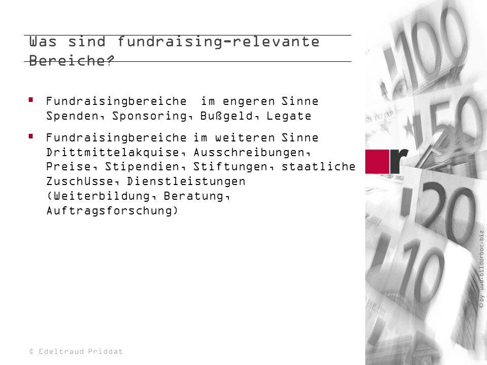 Was sind fundraising-relevante Bereiche