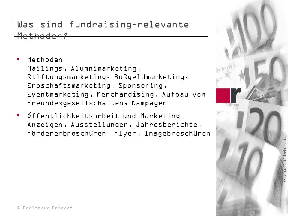 Was sind fundraising-relevante Methoden