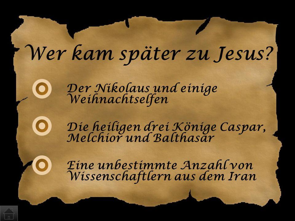 Wer kam später zu Jesus Der Nikolaus und einige Weihnachtselfen