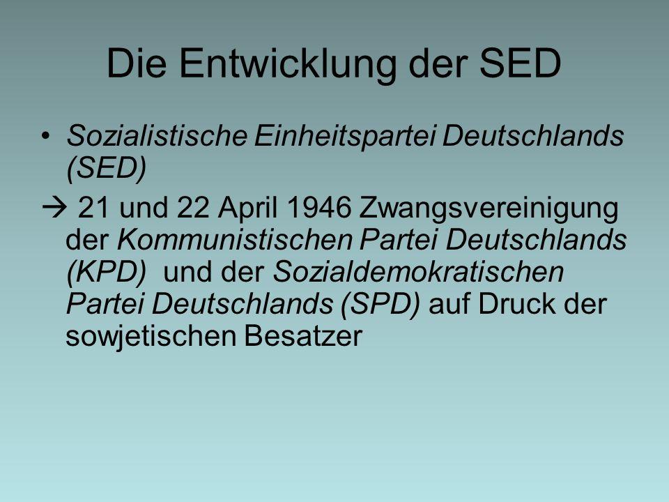 Die Entwicklung der SED