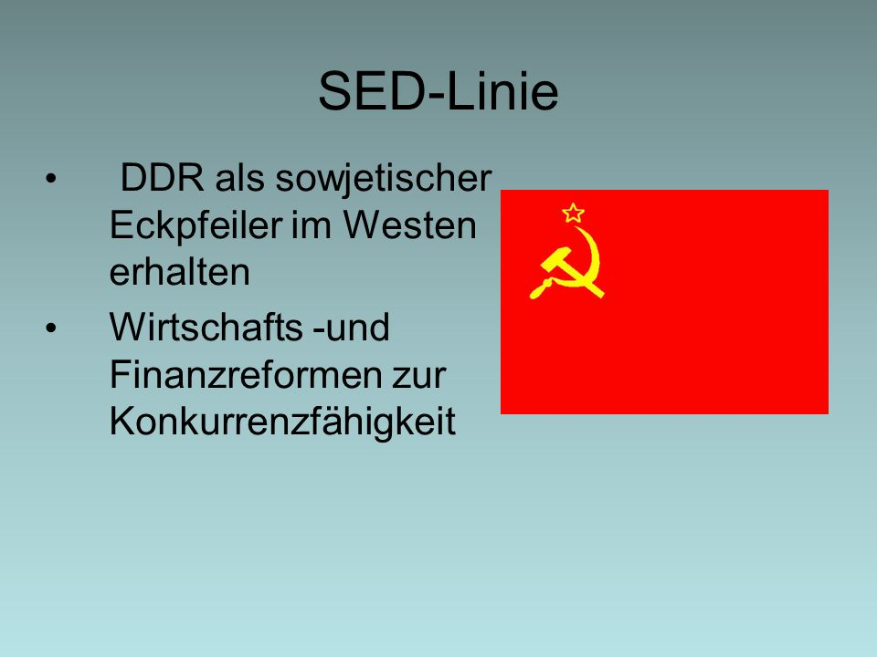 SED-Linie DDR als sowjetischer Eckpfeiler im Westen erhalten