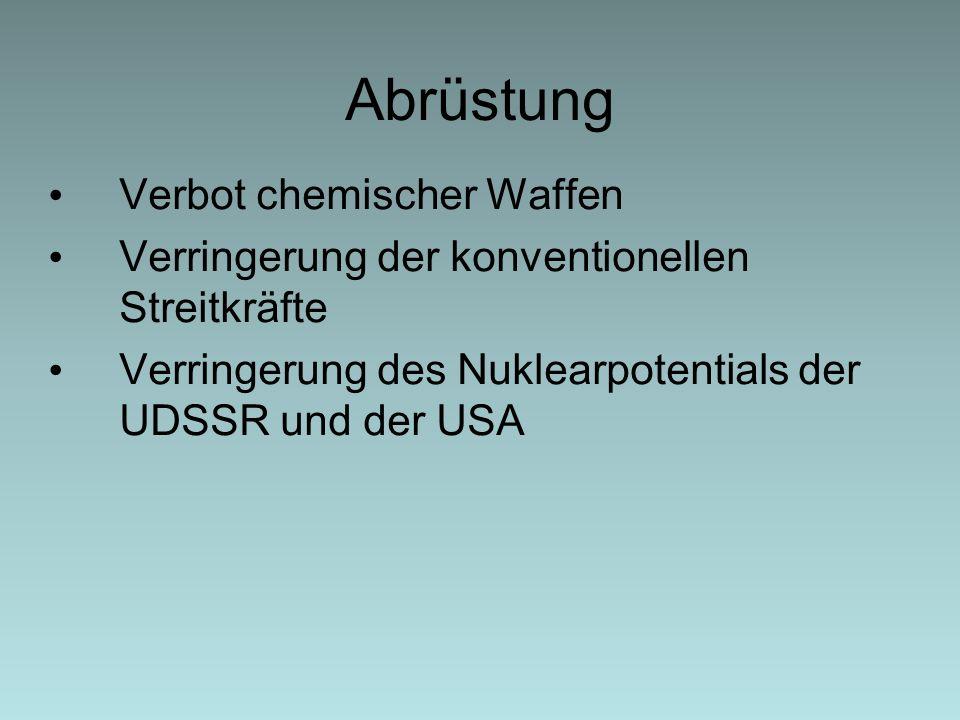 Abrüstung Verbot chemischer Waffen