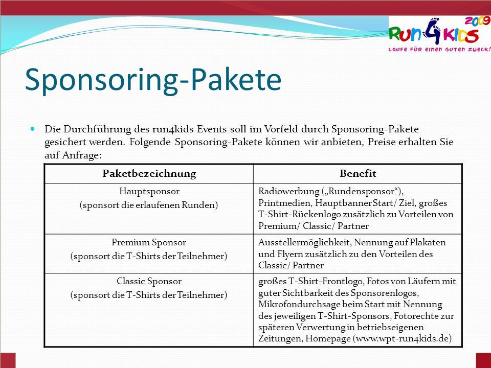 Sponsoring-Pakete