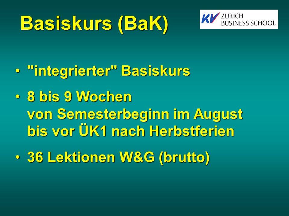 Basiskurs (BaK) integrierter Basiskurs