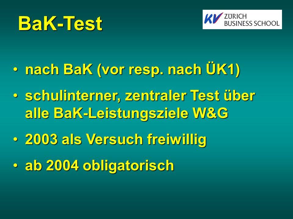 BaK-Test nach BaK (vor resp. nach ÜK1)
