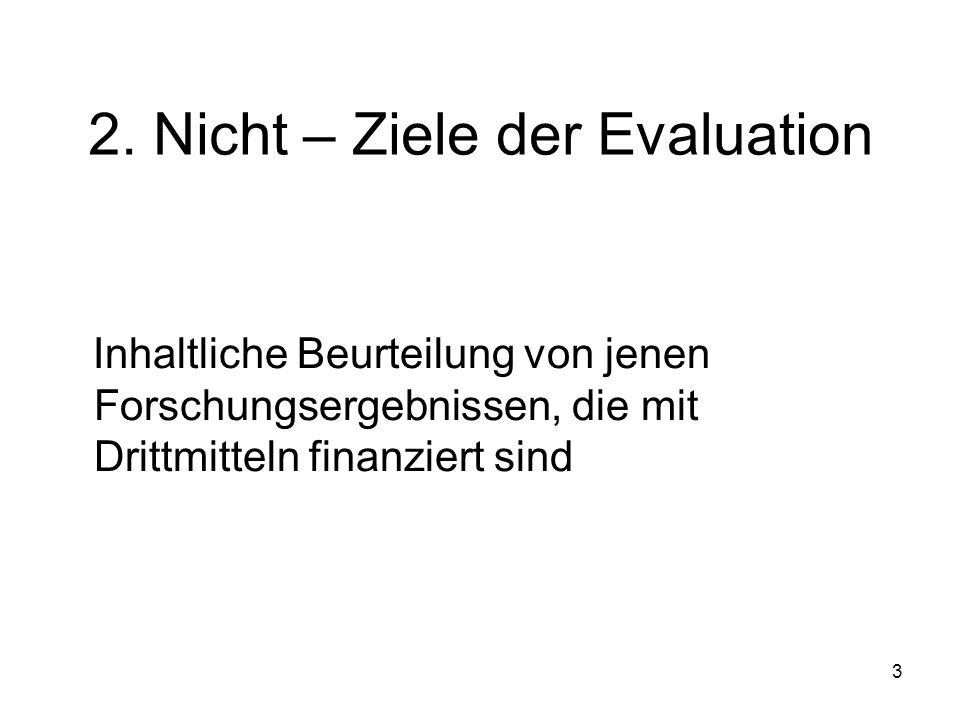 2. Nicht – Ziele der Evaluation