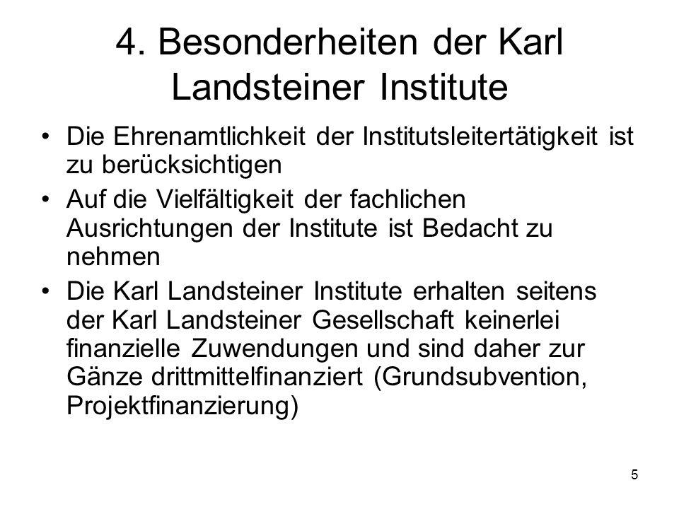 4. Besonderheiten der Karl Landsteiner Institute