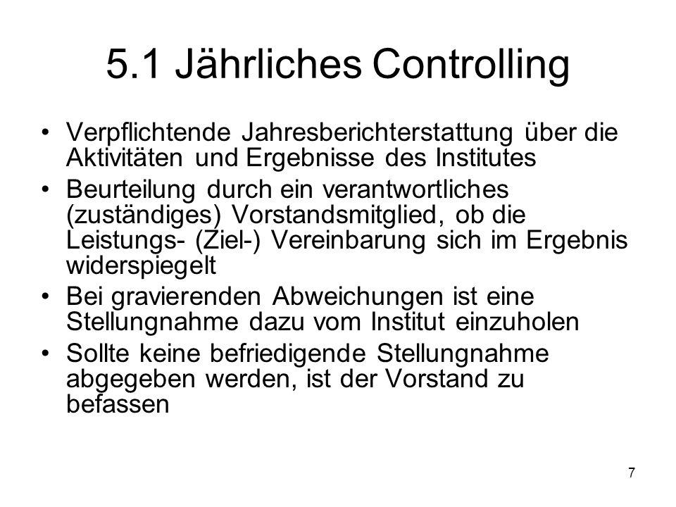 5.1 Jährliches Controlling