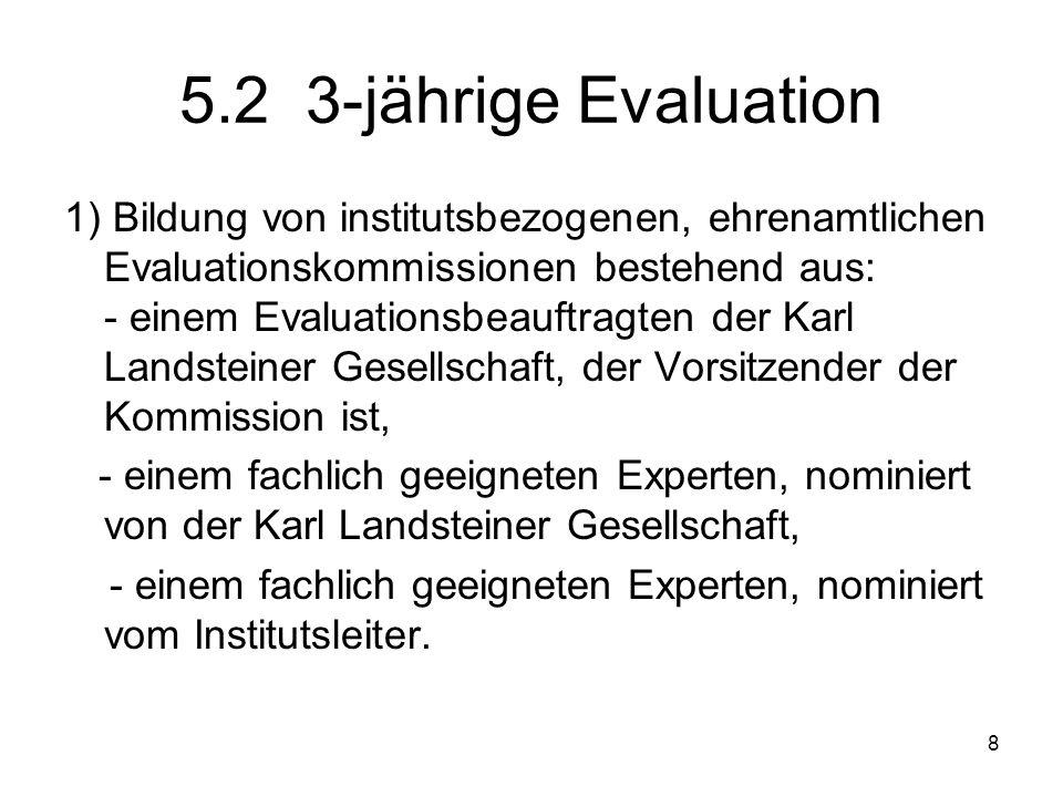 5.2 3-jährige Evaluation