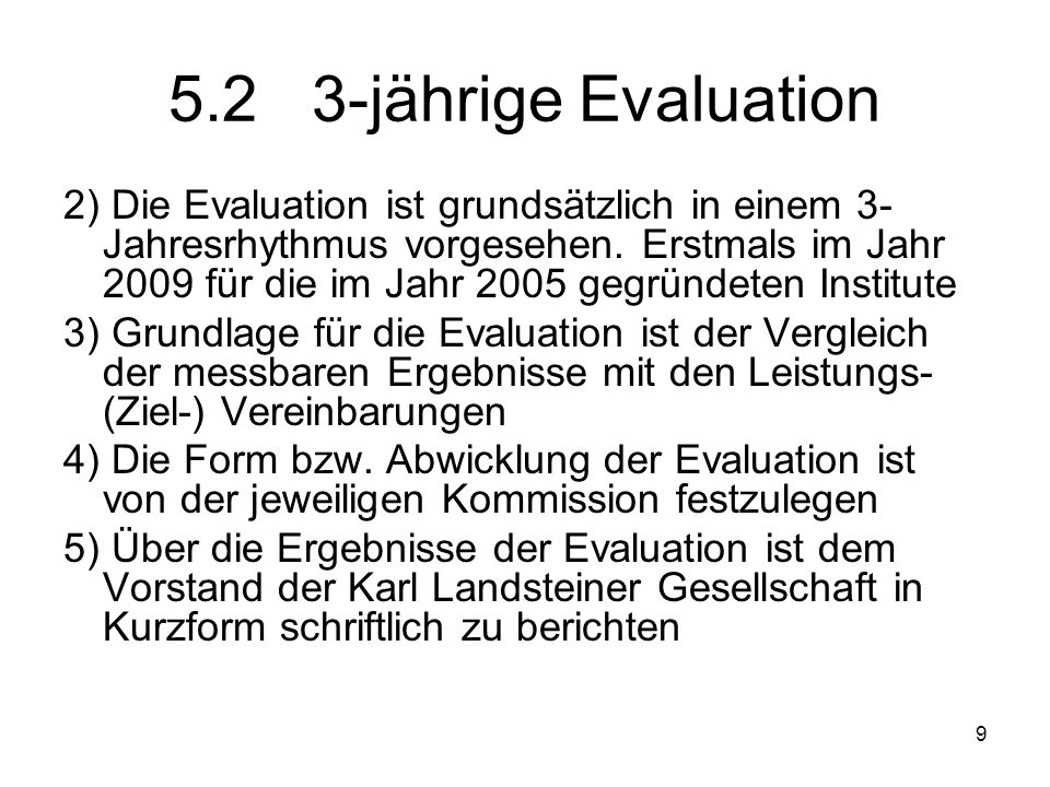 5.2 3-jährige Evaluation