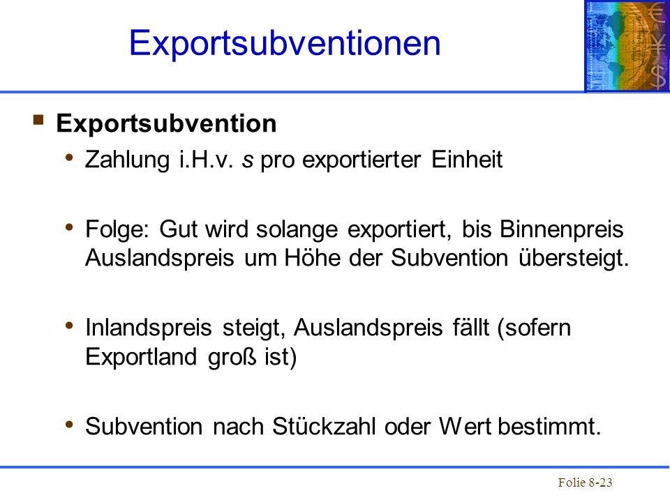 Exportsubventionen Exportsubvention