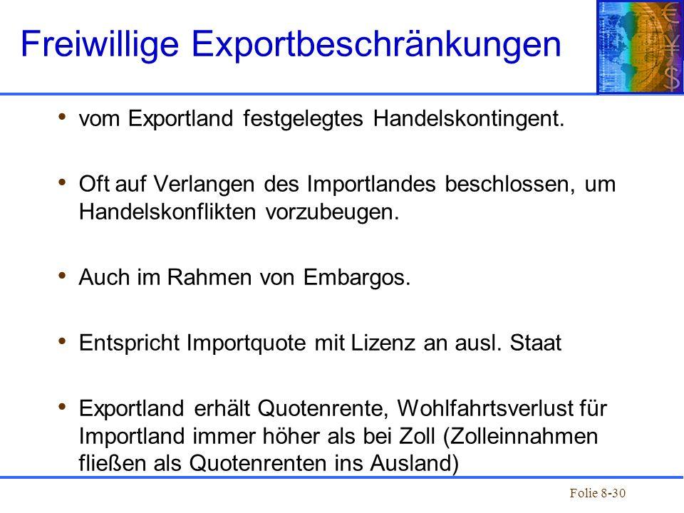 Freiwillige Exportbeschränkungen