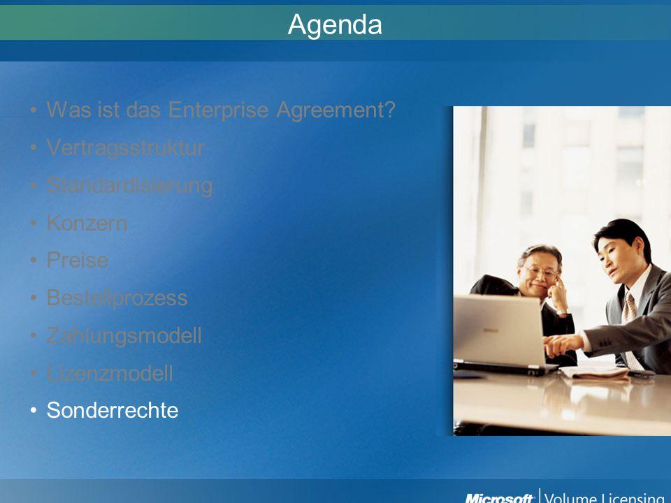 Agenda Was ist das Enterprise Agreement Vertragsstruktur