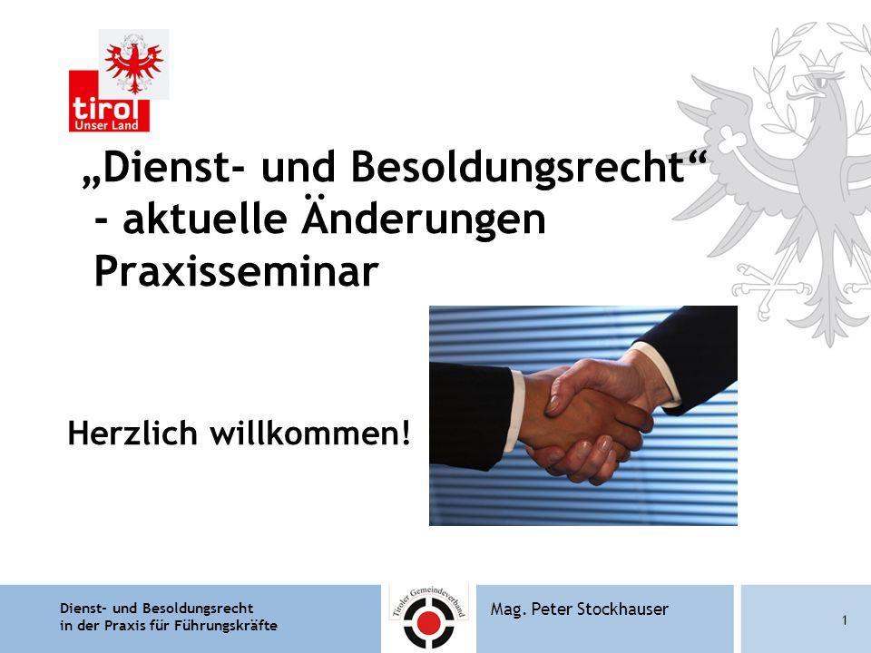 """""""Dienst- und Besoldungsrecht - aktuelle Änderungen Praxisseminar"""