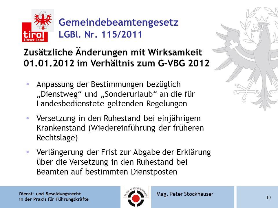 Gemeindebeamtengesetz LGBl. Nr. 115/2011