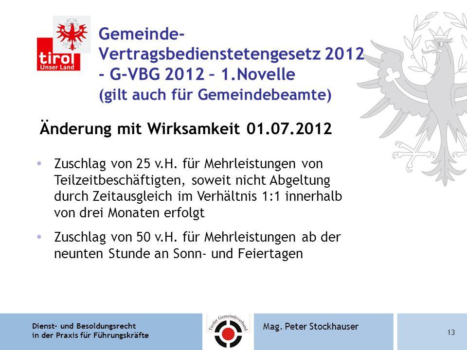 Gemeinde- Vertragsbedienstetengesetz 2012 - G-VBG 2012 – 1