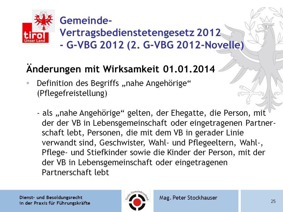 Gemeinde- Vertragsbedienstetengesetz 2012 - G-VBG 2012 (2