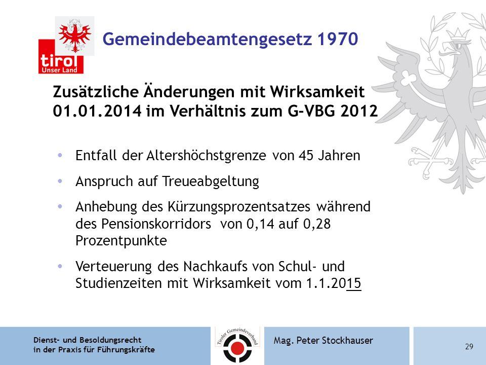 Gemeindebeamtengesetz 1970
