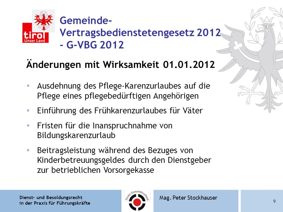 Gemeinde- Vertragsbedienstetengesetz 2012 - G-VBG 2012