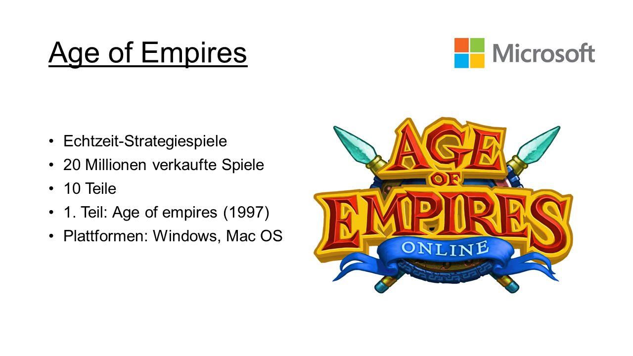 Age of Empires Echtzeit-Strategiespiele 20 Millionen verkaufte Spiele