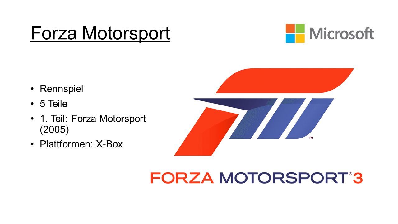 Forza Motorsport Rennspiel 5 Teile 1. Teil: Forza Motorsport (2005)