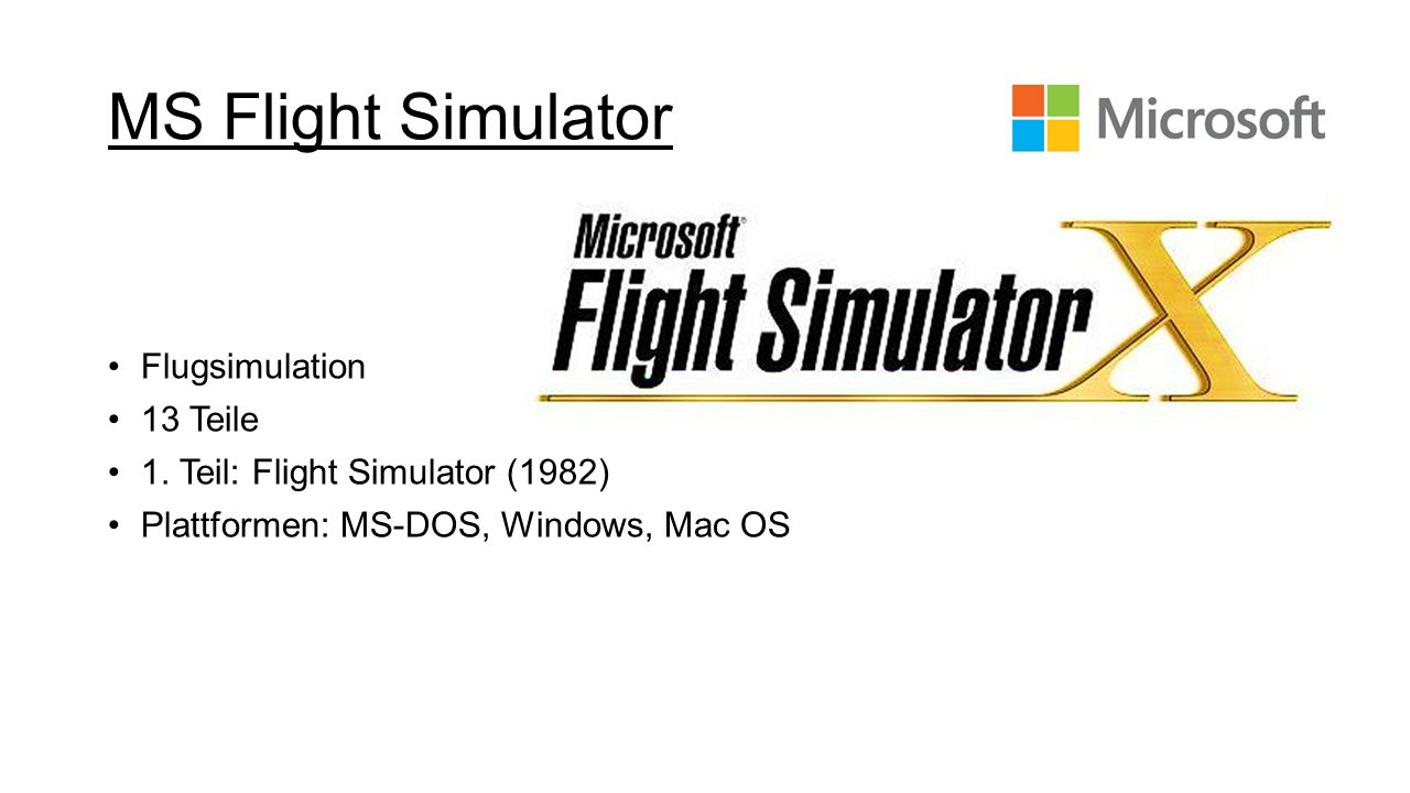 MS Flight Simulator Flugsimulation 13 Teile