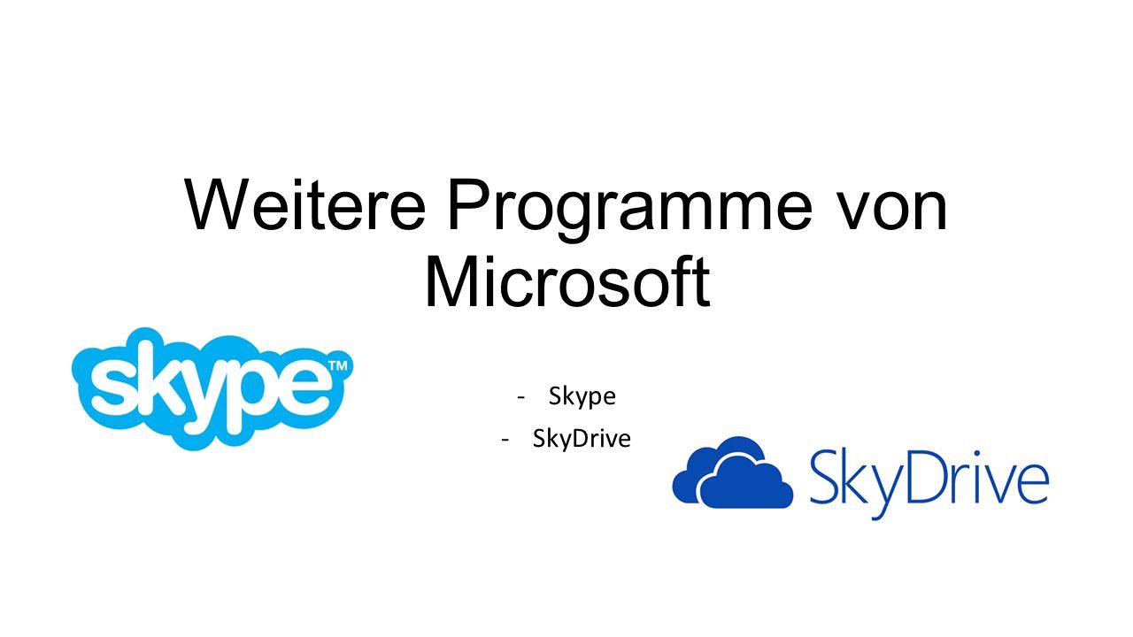 Weitere Programme von Microsoft