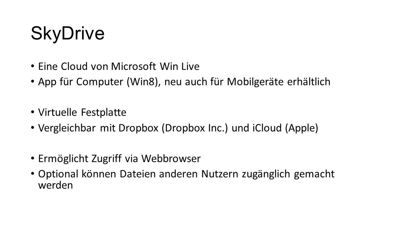 SkyDrive Eine Cloud von Microsoft Win Live