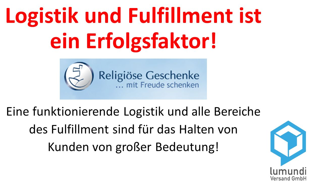 Logistik und Fulfillment ist ein Erfolgsfaktor!