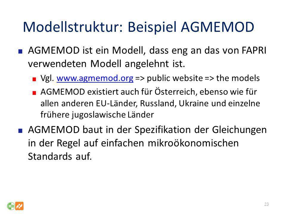 Modellstruktur: Beispiel AGMEMOD