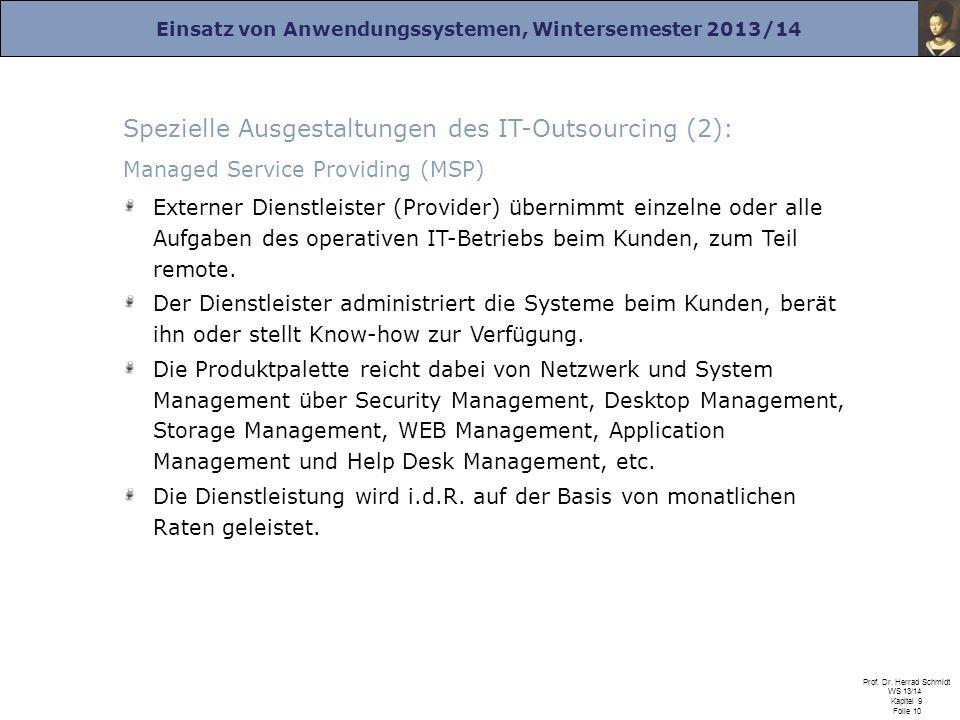 Spezielle Ausgestaltungen des IT-Outsourcing (2):