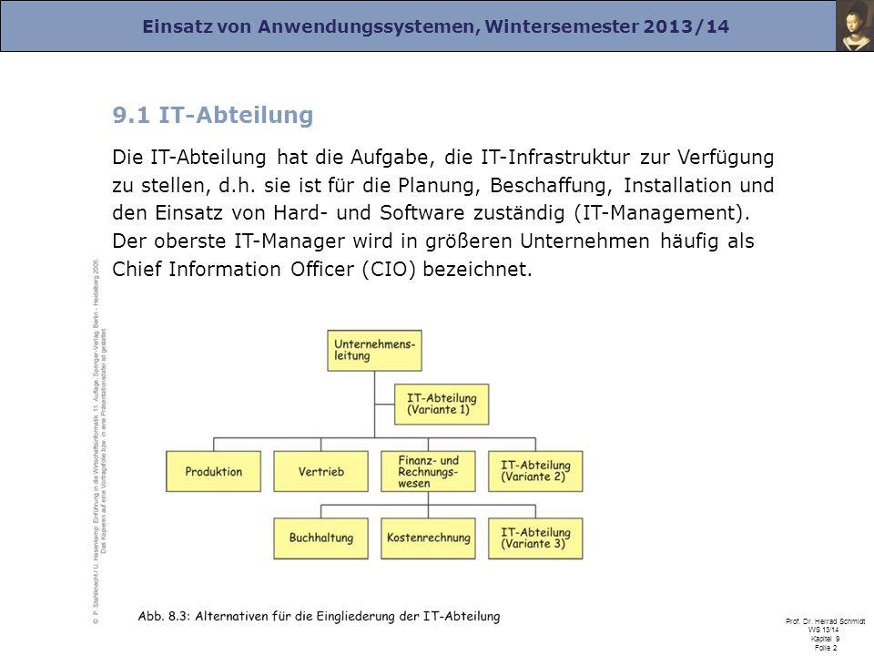 9.1 IT-Abteilung