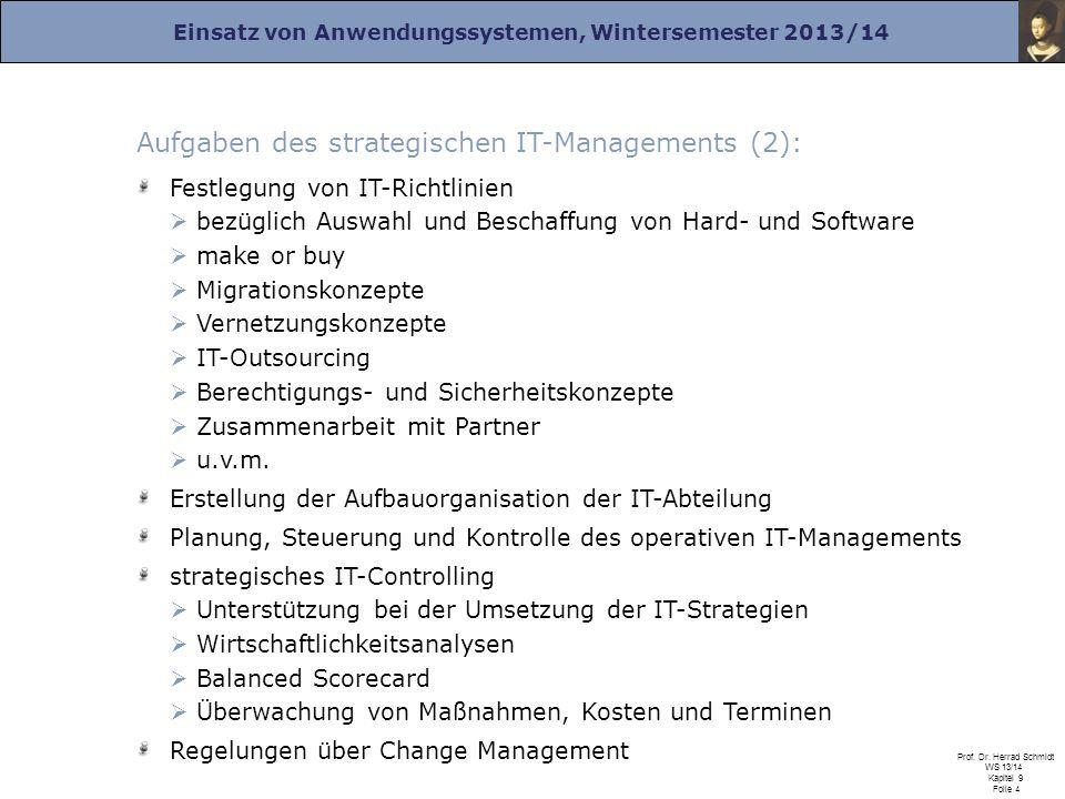 Aufgaben des strategischen IT-Managements (2):