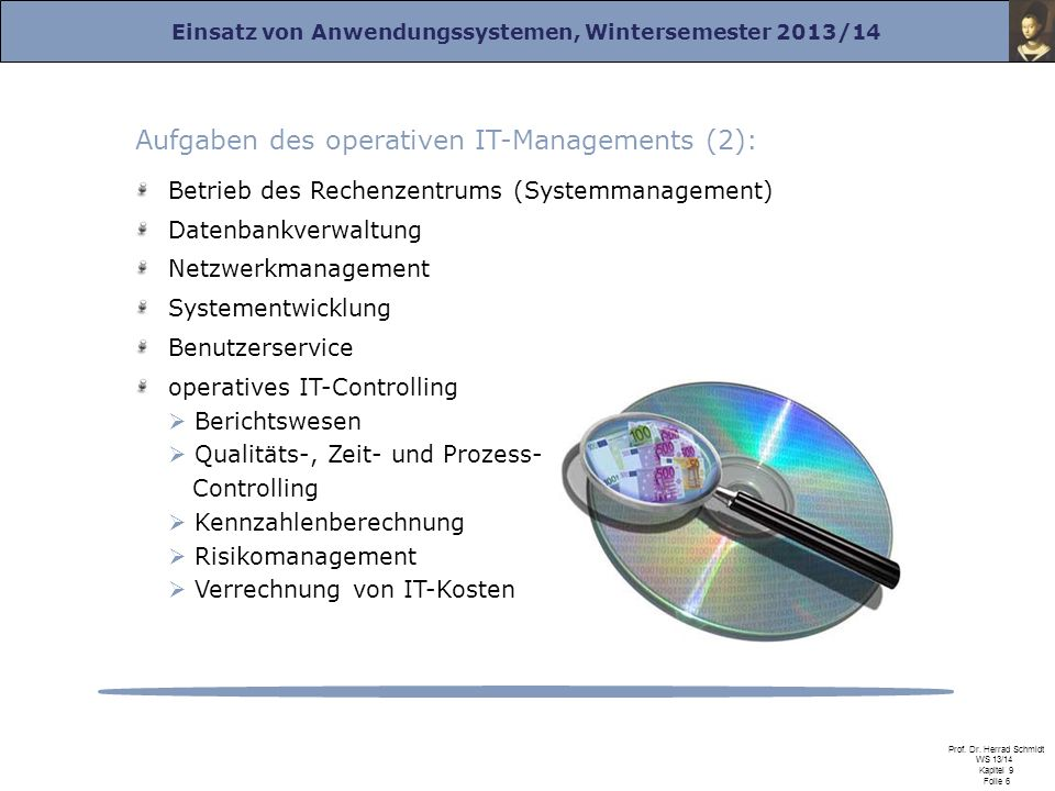 Aufgaben des operativen IT-Managements (2):