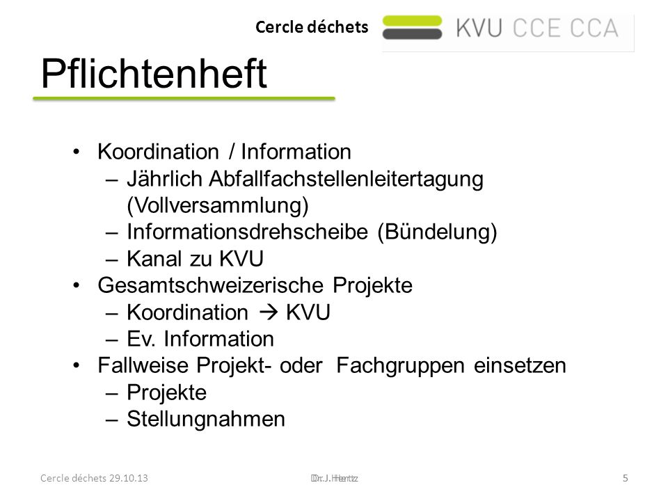 Pflichtenheft Koordination / Information