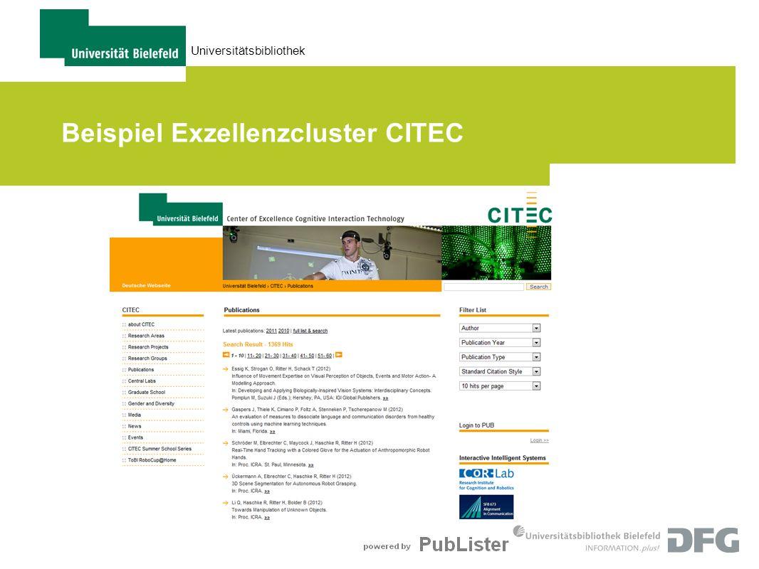 Beispiel Exzellenzcluster CITEC