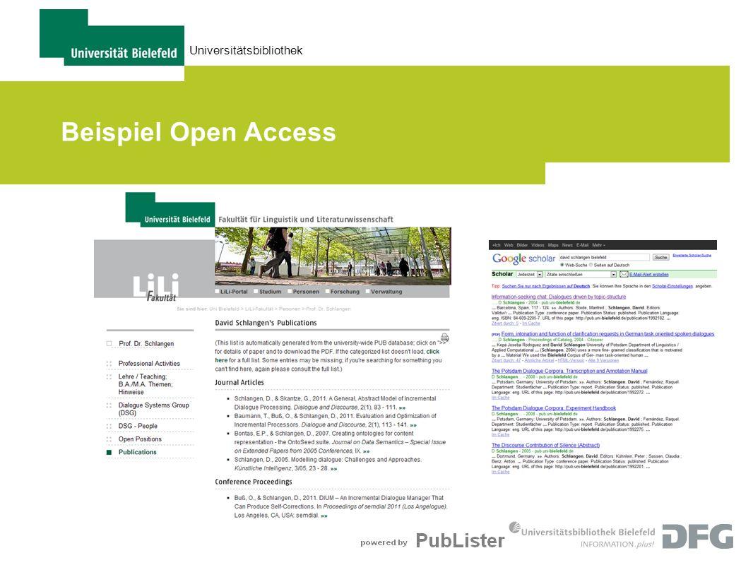 28.03.2017 Beispiel Open Access