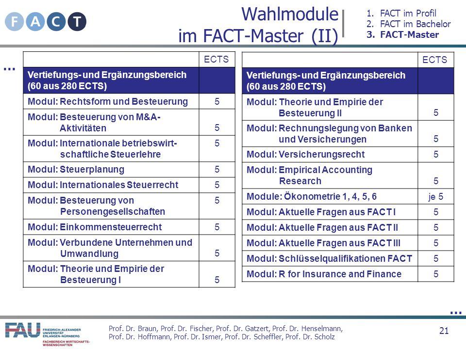 Wahlmodule im FACT-Master (II)