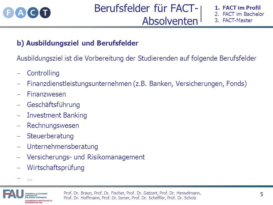 Berufsfelder für FACT-Absolventen