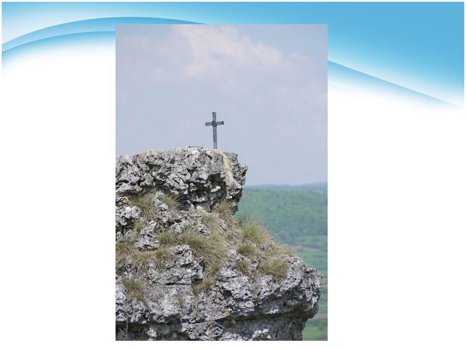 """- nächstes Bild: Kreuz mit Wolke """"Durchkreuzen kann auch ein Neubeginn sein. Reporterin: """"Danke für Ihr offenes persönliches Gespräch! Ende!"""